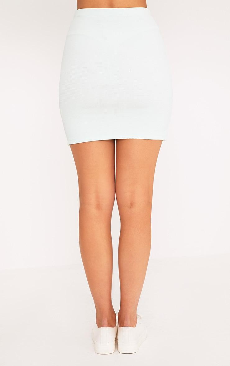 Steffy Mint Textured Mini Skirt 4