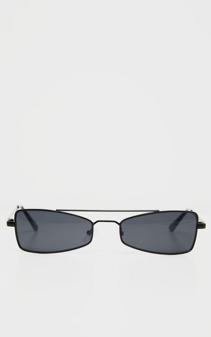 Black Brow Bar Retro Sunglasses 2