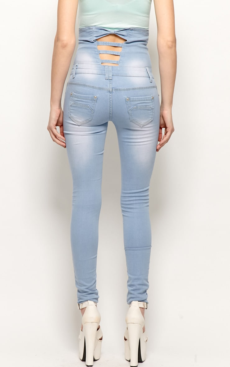 Nadia Blue High Waist Denim Jeans 2