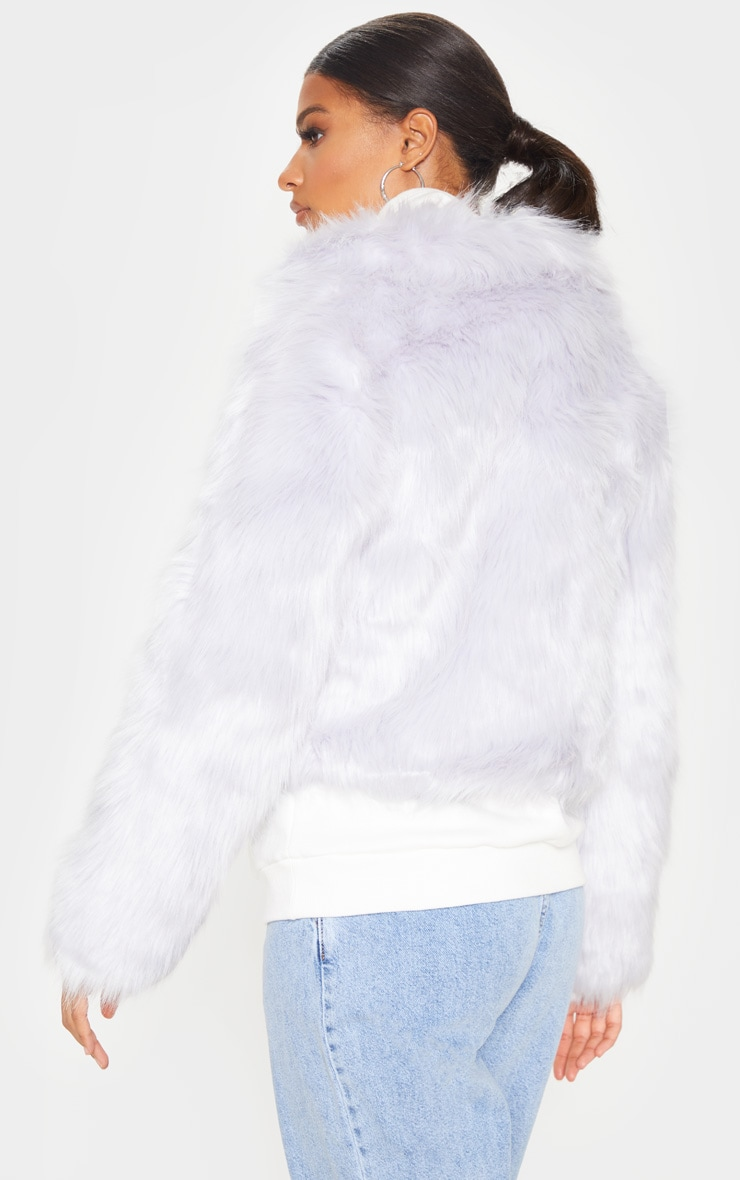 Grey Faux Fur Jacket 2