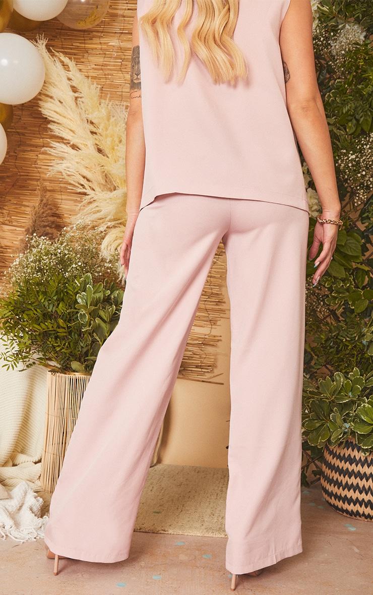 Maternity Mauve Belly Band Suit Pants 3