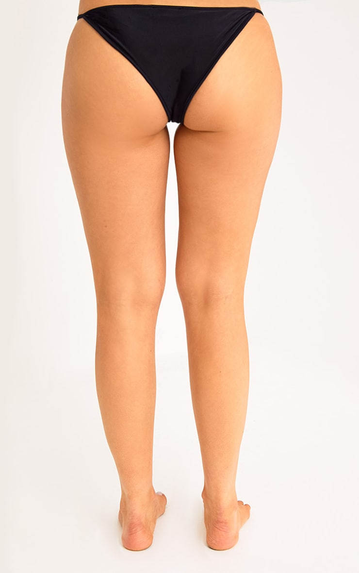 Halley Black Bikini Bottoms 4