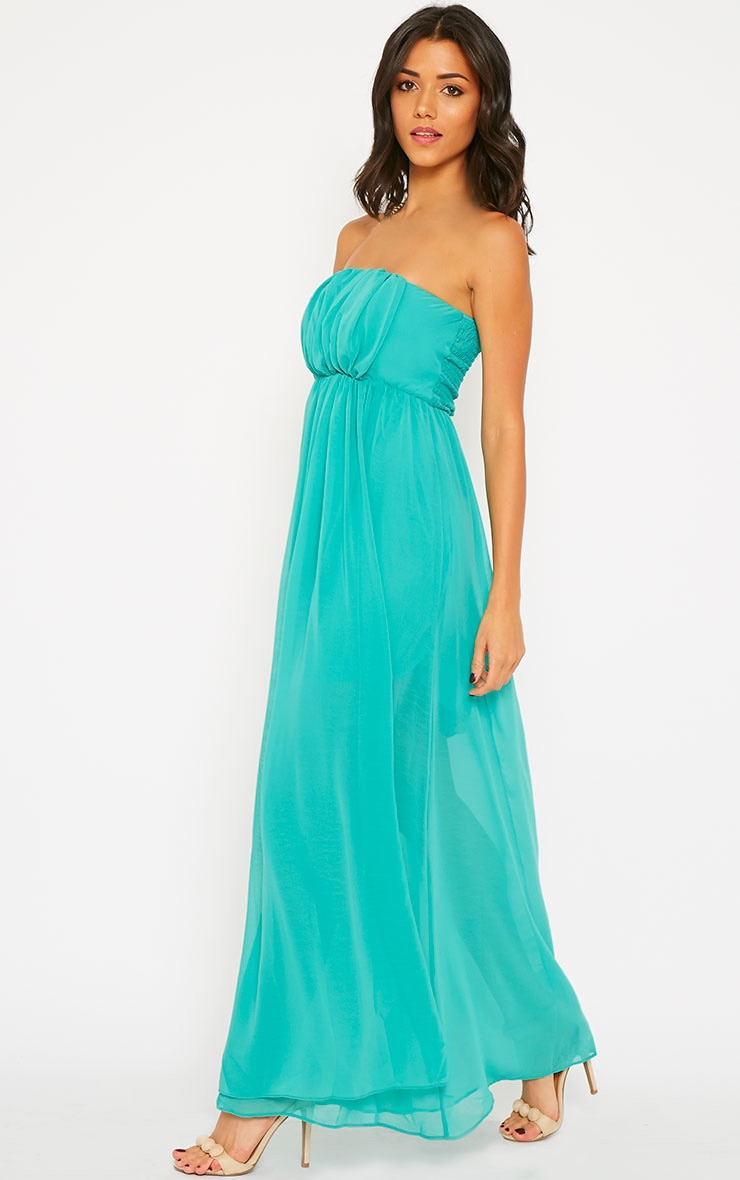 Brigette Green Bandeau Maxi Dress 1