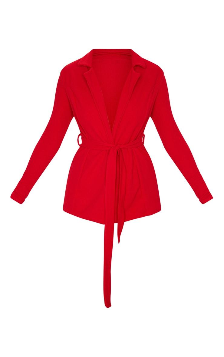 Red Belted Blazer  5