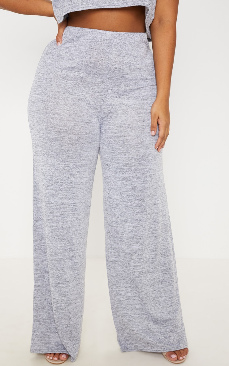 Plus Grey Wide Leg Pants 2