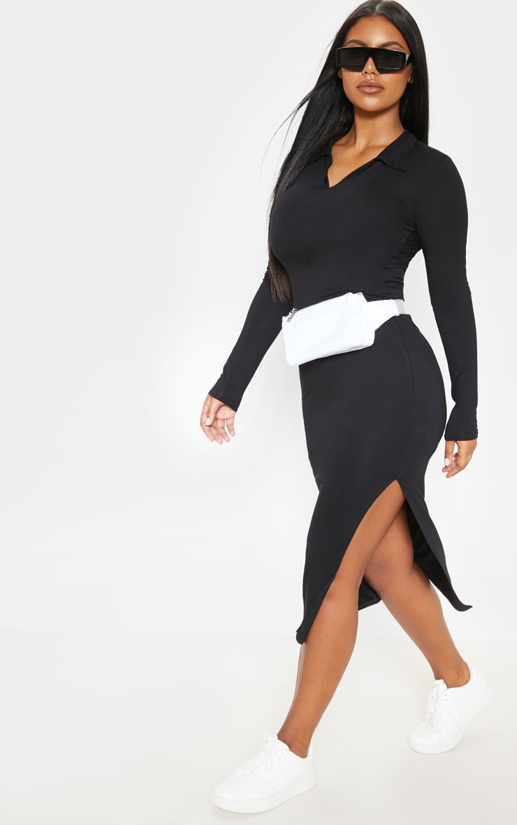 Black Polo Midi Dress 4
