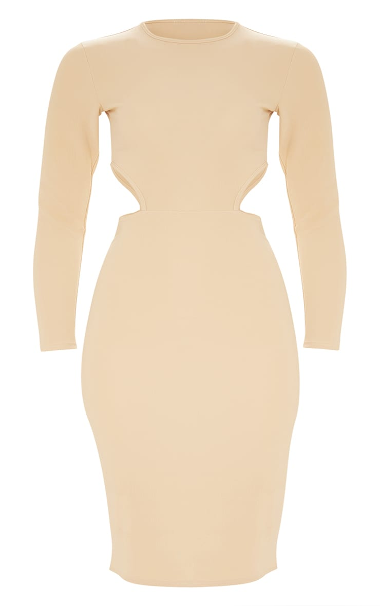 Plus Nude Second Skin Cut Out Side Midi Dress 3