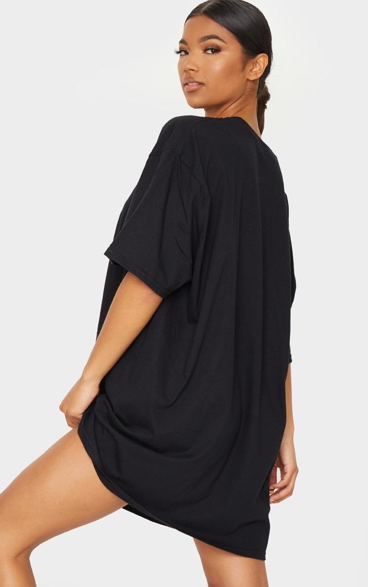 PRETTYLITTLETHING Black Tour T Shirt Dress 2