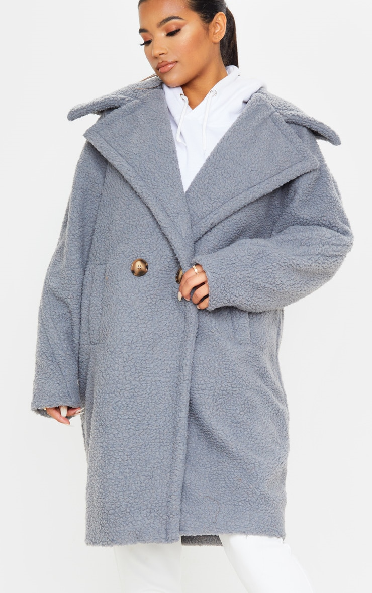 Grey Borg Drop Arm Midi Coat 5