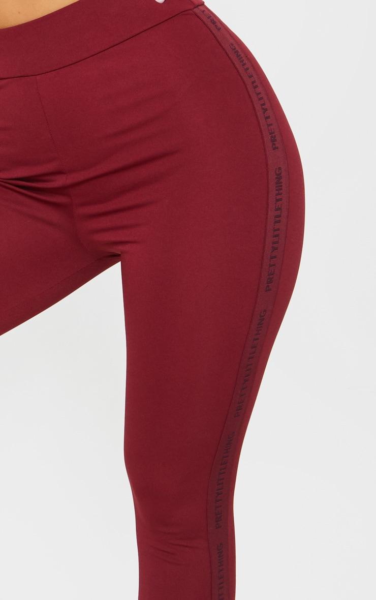 PRETTYLITTLETHING Berry Sport High Waist Cropped Gym Leggings 4