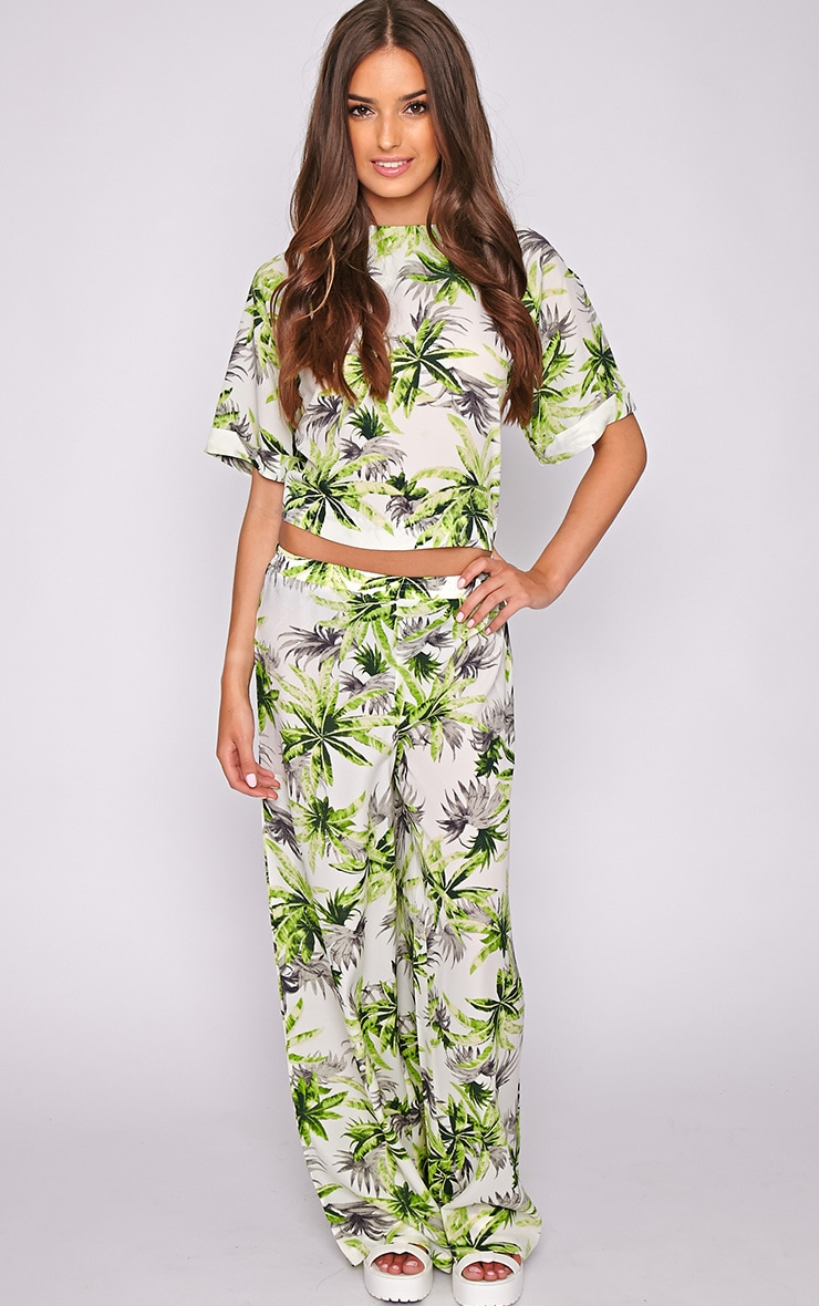 Jocelyn Green Leaf Print Trouser -L 5