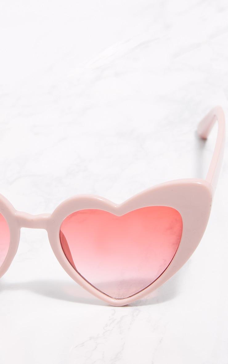 Pink Heart Shape Sunglasses 4