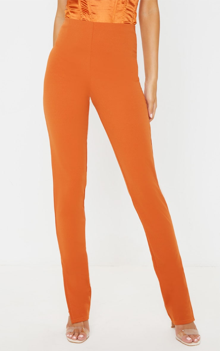 Rust Split Ankle Skinny Trousers 2