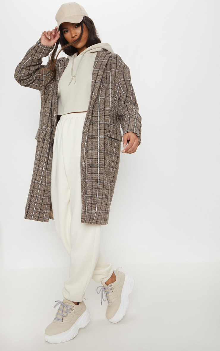 Brown Checked Coat 1