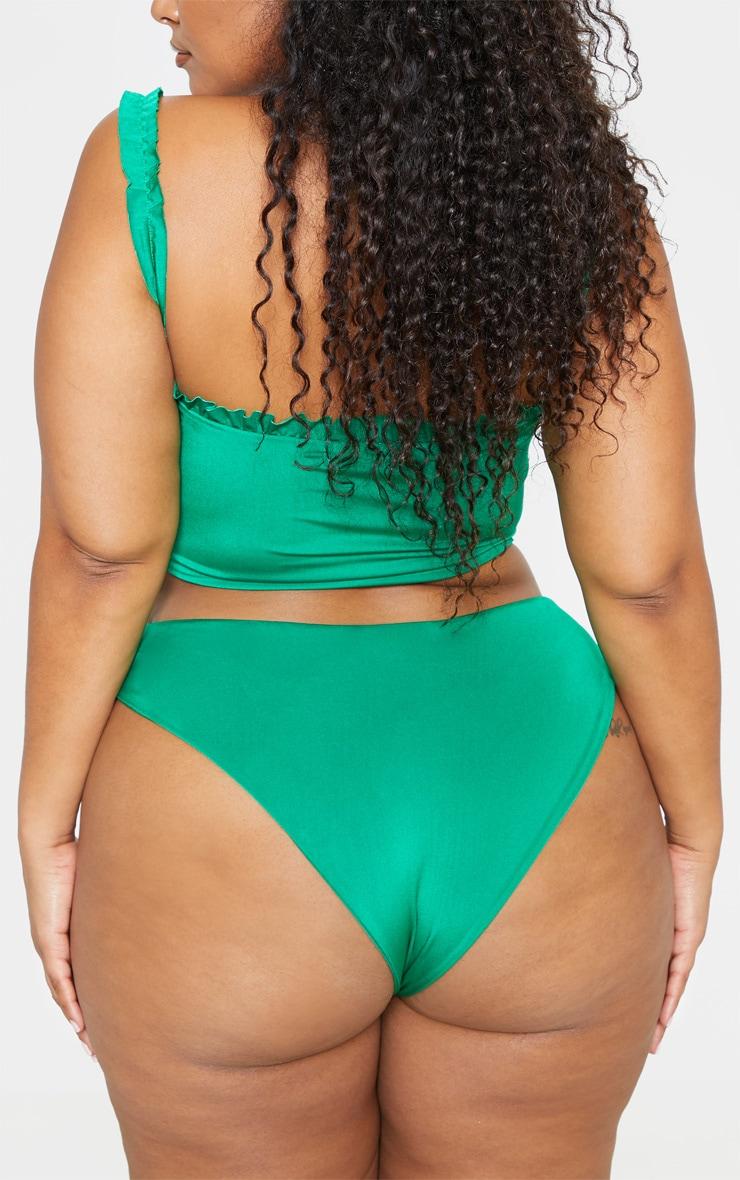 Plus Bright Green Bikini Bottom  4