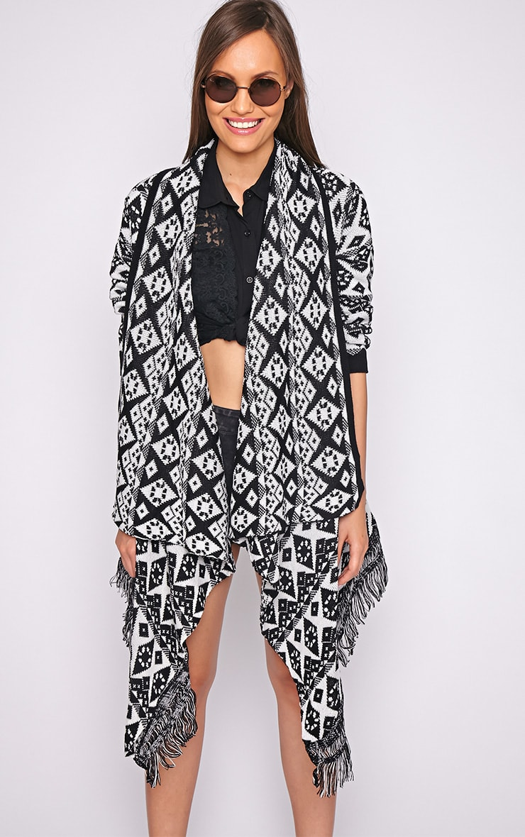 Ariel Monochrome Diamond Cardigan 1
