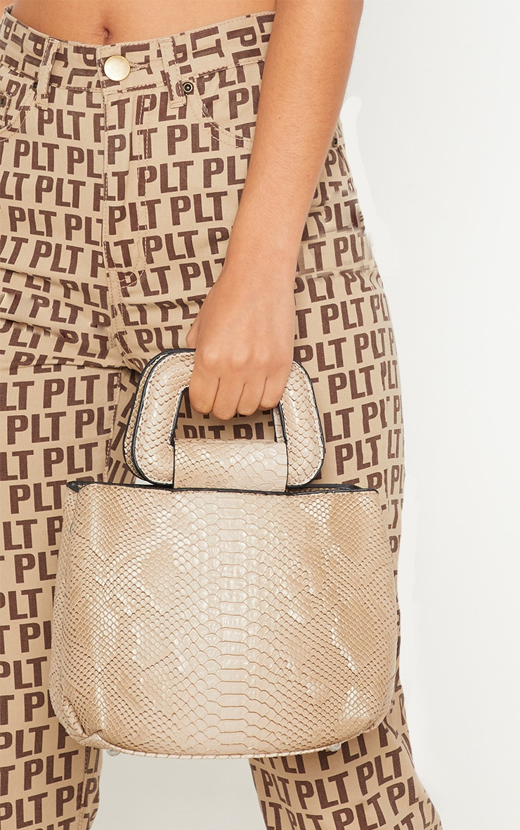 Beige Snake Mini Bag 2
