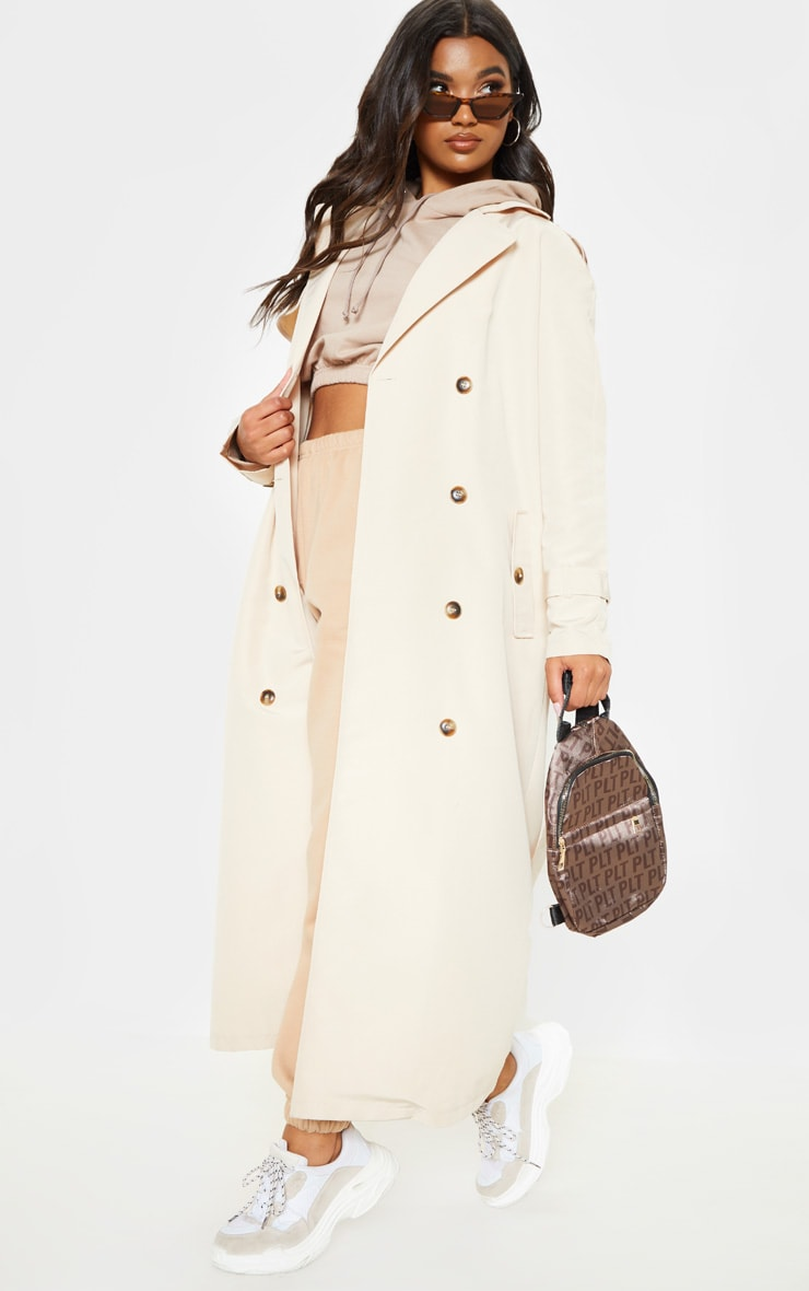 Stone Oversized Trench Coat 4