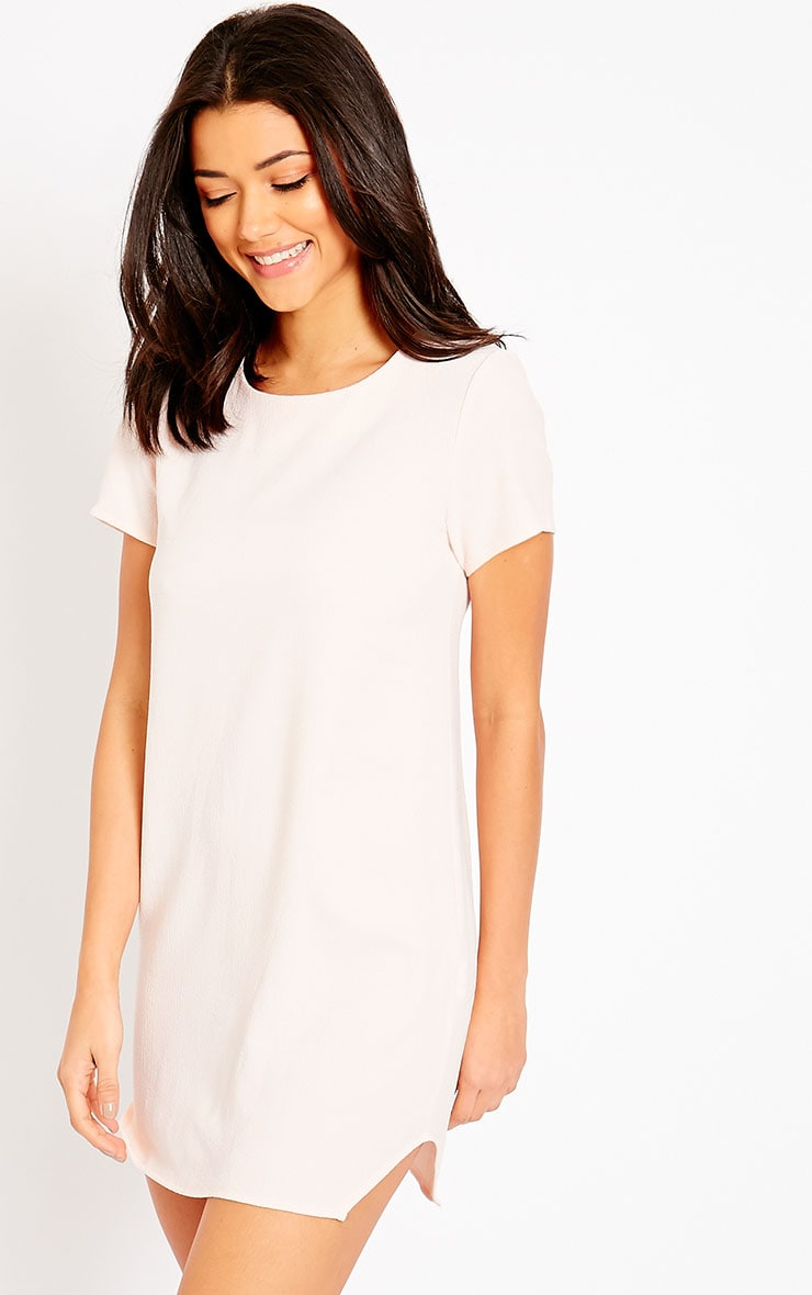 Jeni Baby Pink Crew Neck Shift Dress 4