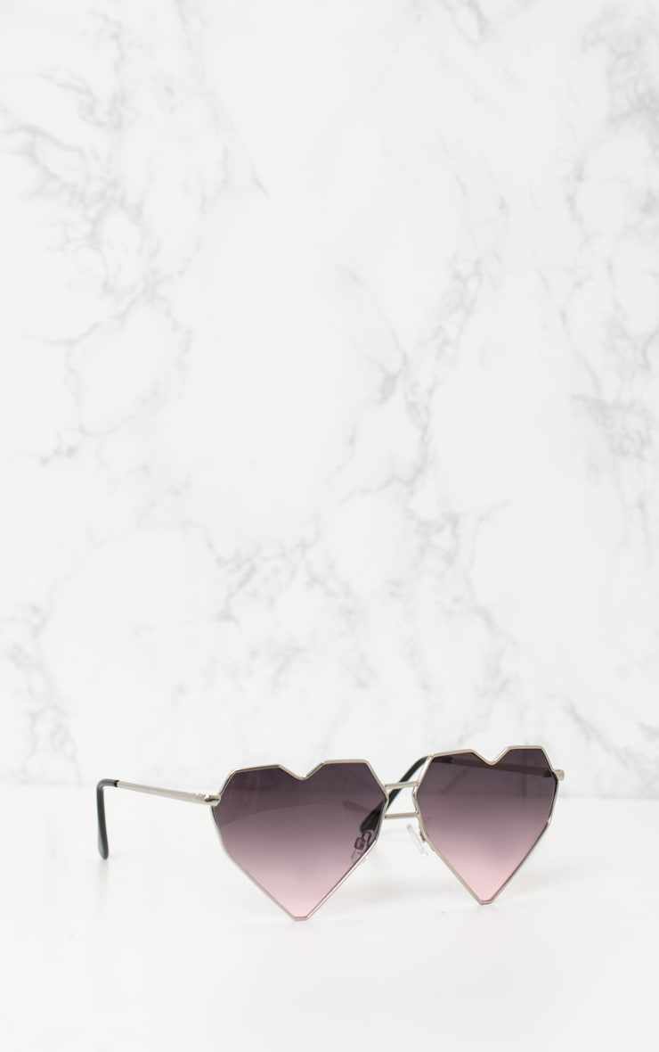 Gold Structured Heart Sunglasses 3