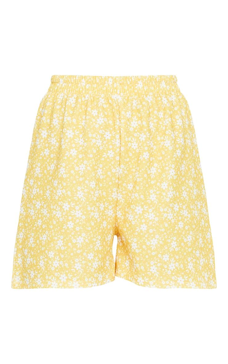 Yellow Oversized Floaty Shorts 6