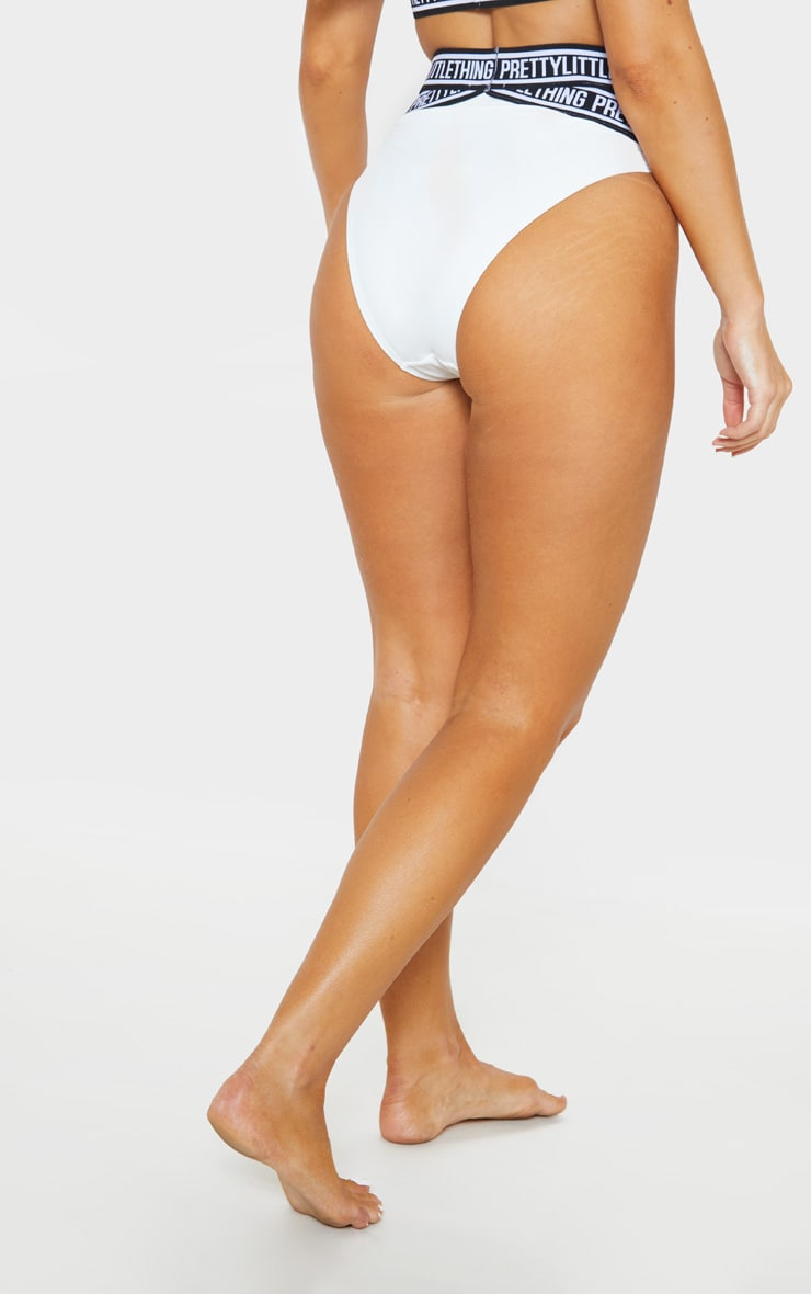 White PRETTYLITTLETHING Strap Bikini Bottoms 3