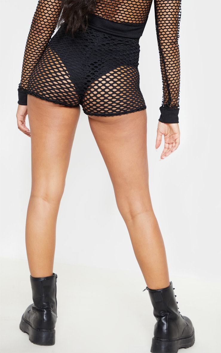 Black Fishnet Hot Pants  4