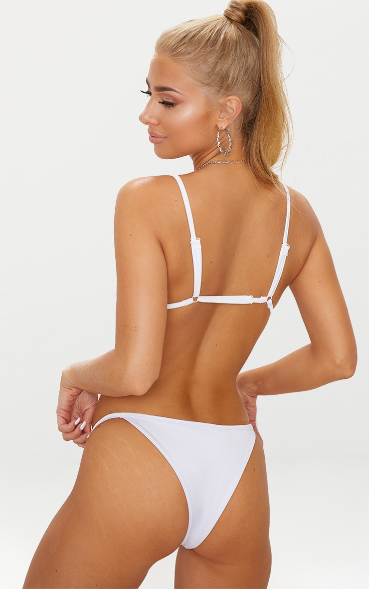 White Mix & Match Itsy Bitsy Bikini Top 2