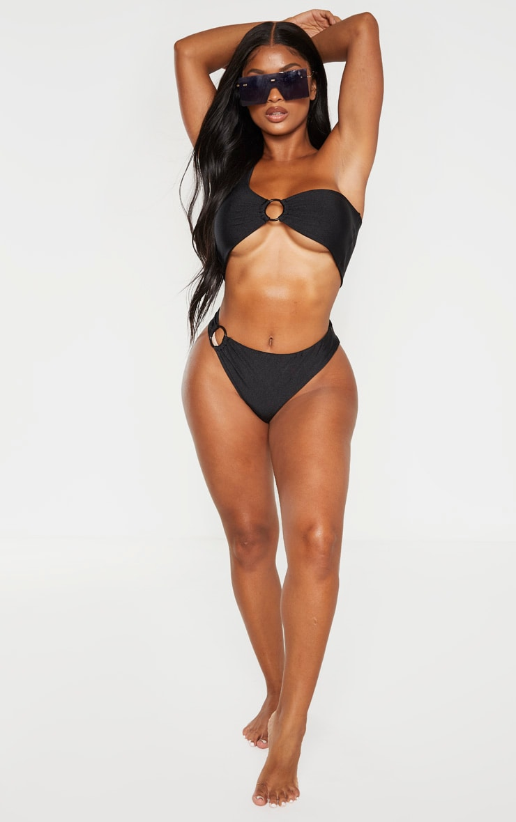 Shape Black Ring Detail Bikini Bottom 3