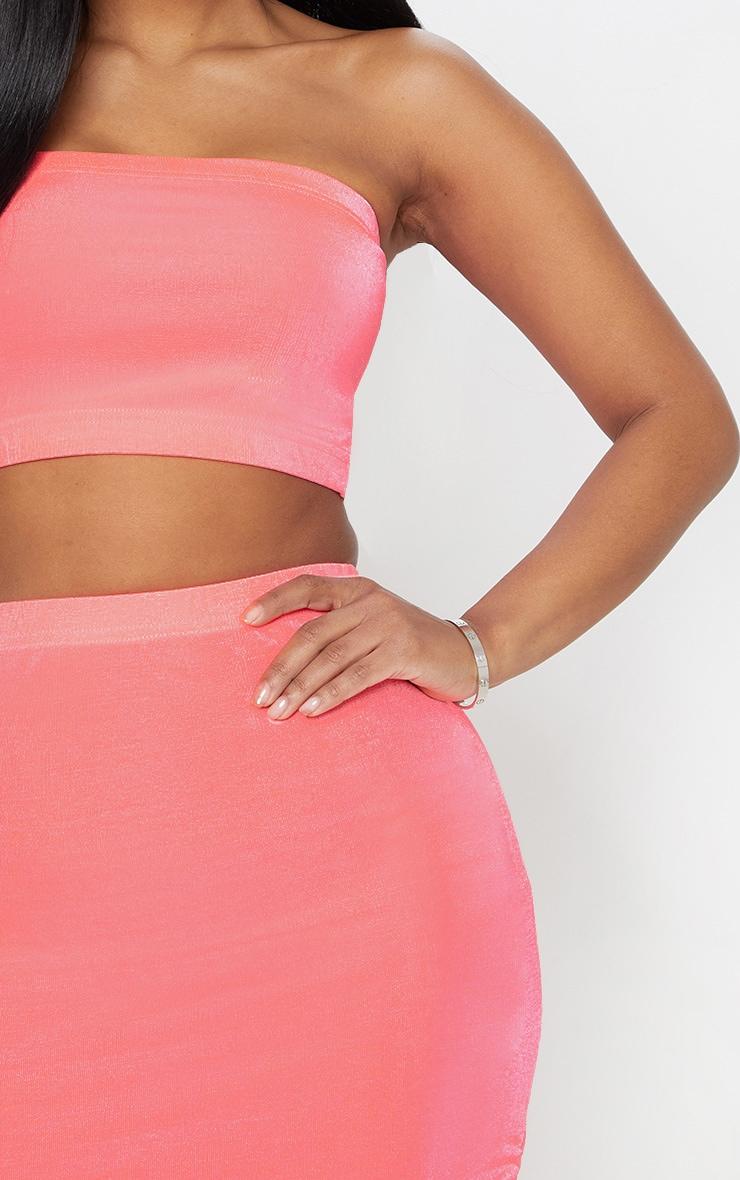 Shape Pink Slinky Neon Bandeau Crop Top  5