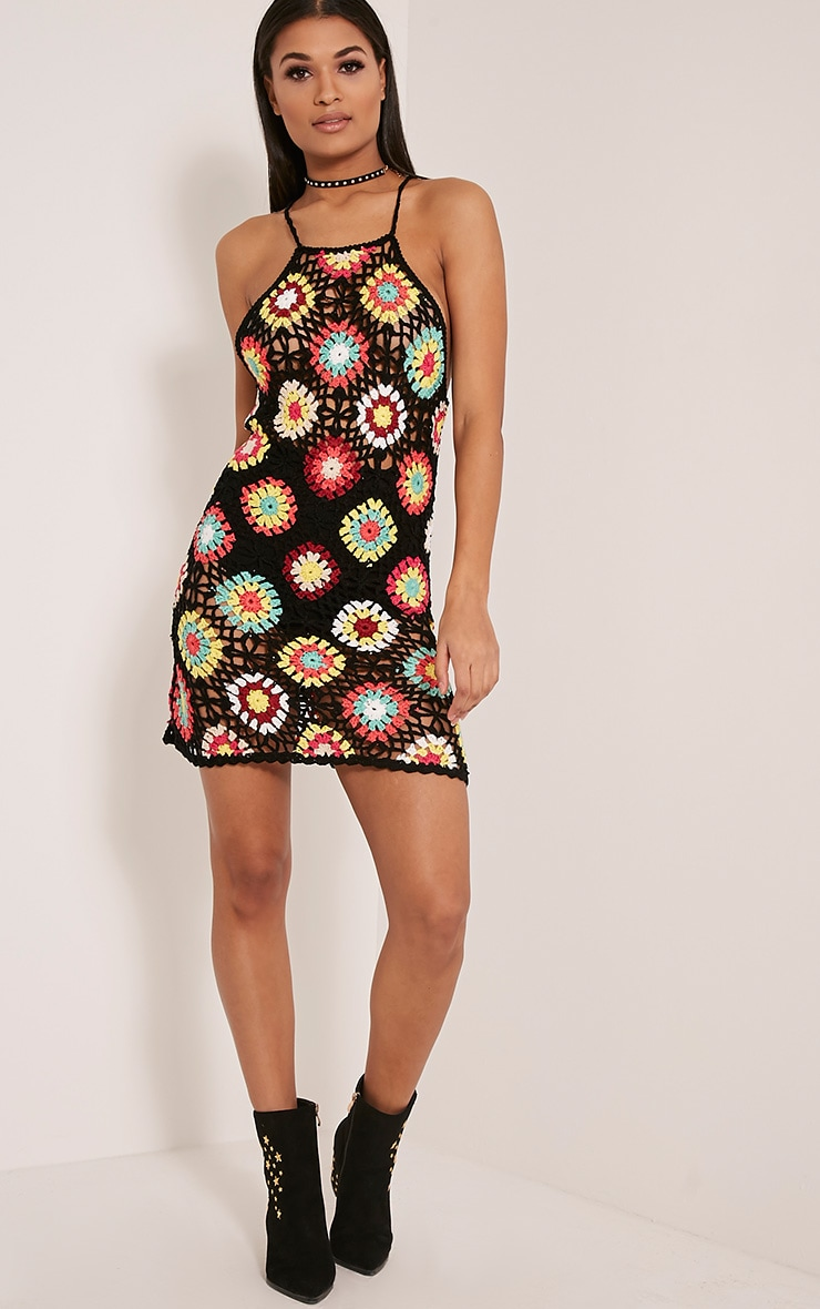 Kayley Black Patchwork Dress 6