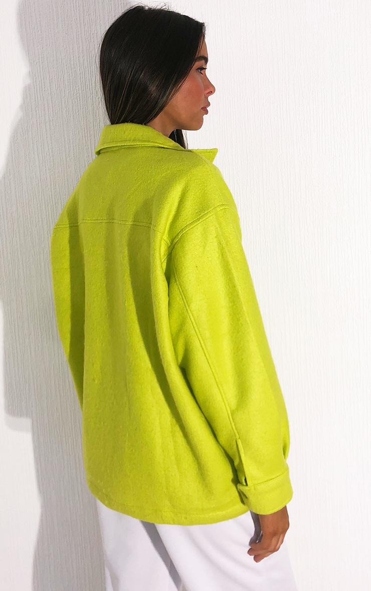 Lime Pocket Front Shacket 2