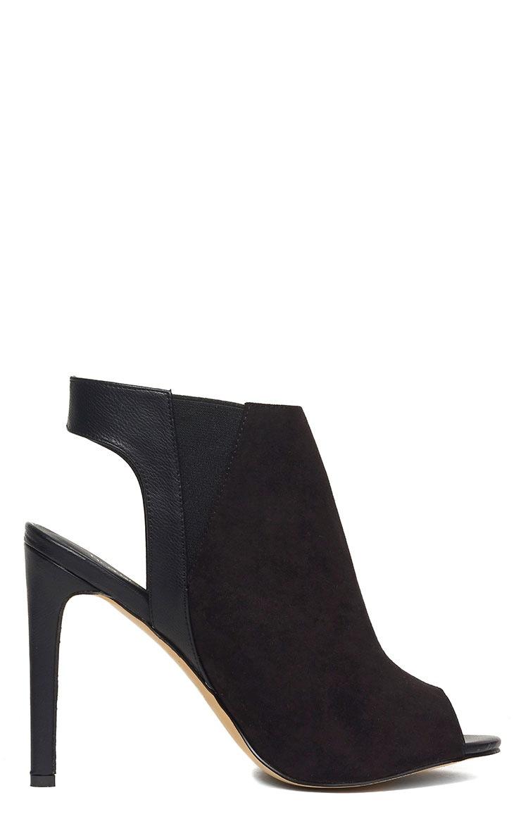Raeanne Black Open Heel Shoes 6