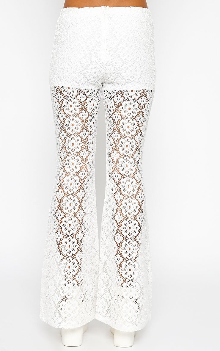 Natalia Cream Crochet Trousers 5