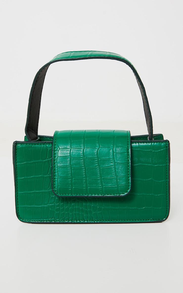 Green Croc Front Flap Mini Bag 2