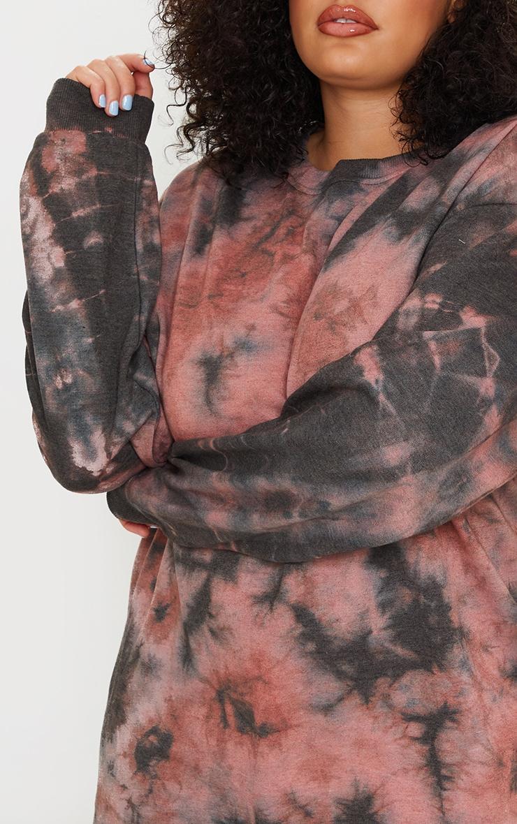 Plus Mauve Tie Dye Sweater Dress 4