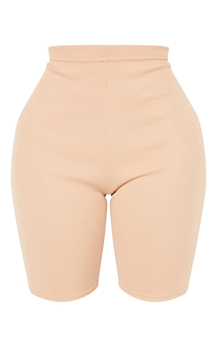 Shape Camel Rib Ruched Bum Bike Shorts 6