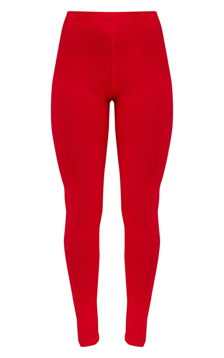 Basic Red and Camel Jersey Leggings 2 Pack 3