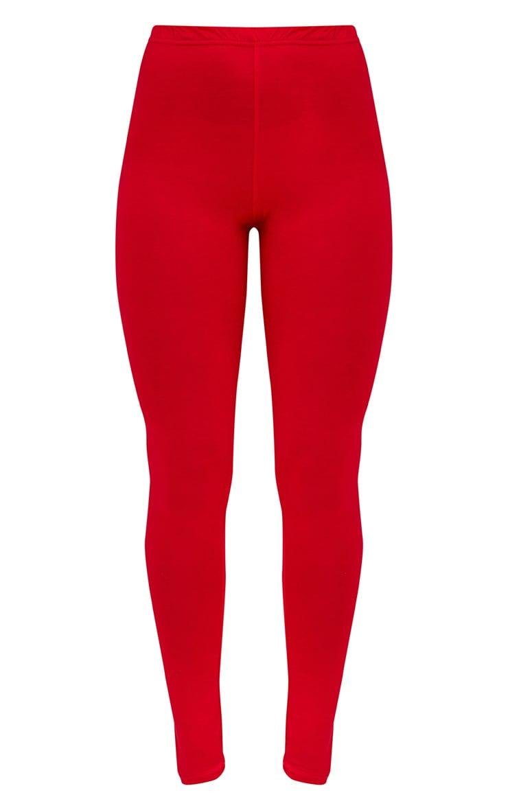 Basic lot de 2leggings en jersey rouge et camel 3