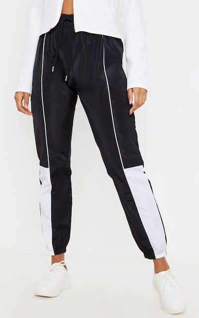 Black Contrast Shell Jogger