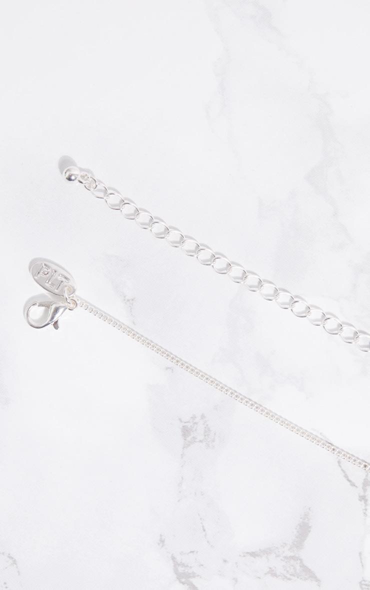 Silver Renaissance Saint Diamante Halo Necklace 4