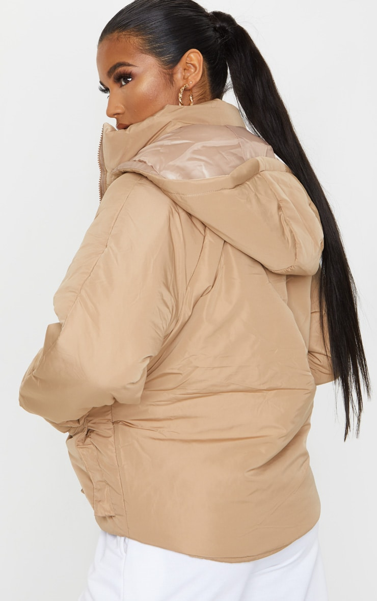 Mocha Basic Hooded Puffer 2