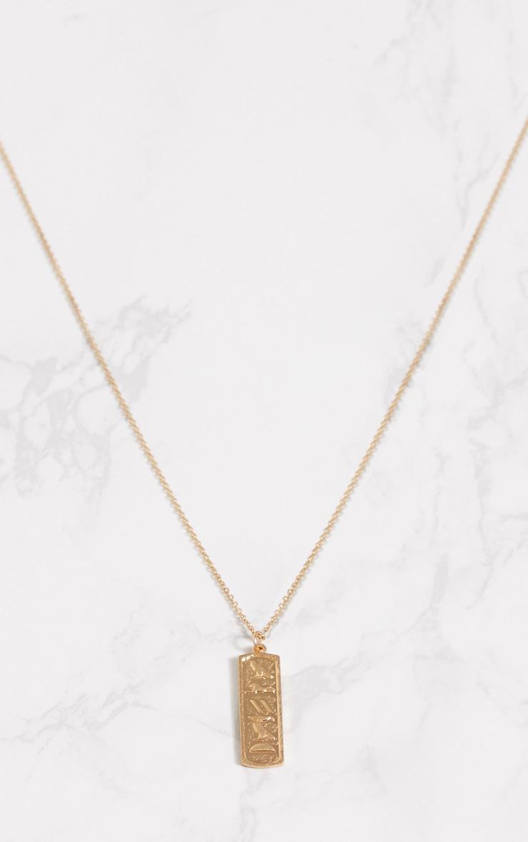 Gold Renaissance Symbol Pendant Necklace 3