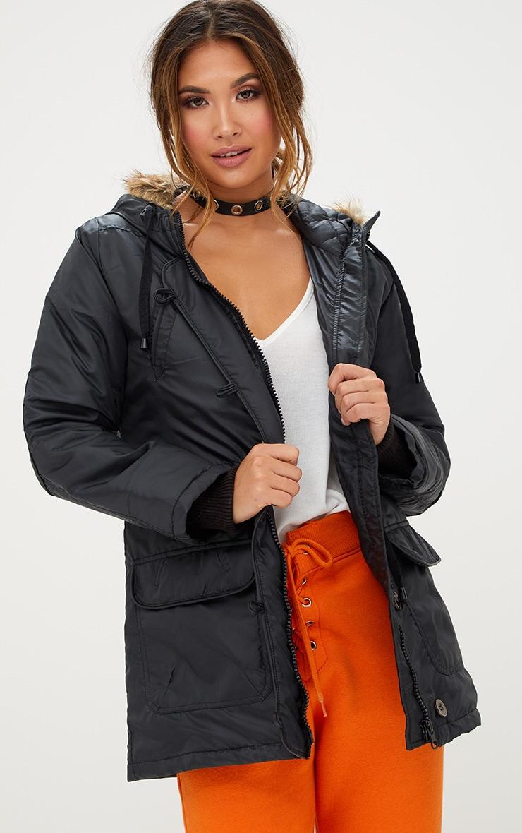 b2cb78990321 Khaki Longline Bomber Jacket. Coats & Jackets | PrettyLittleThing USA
