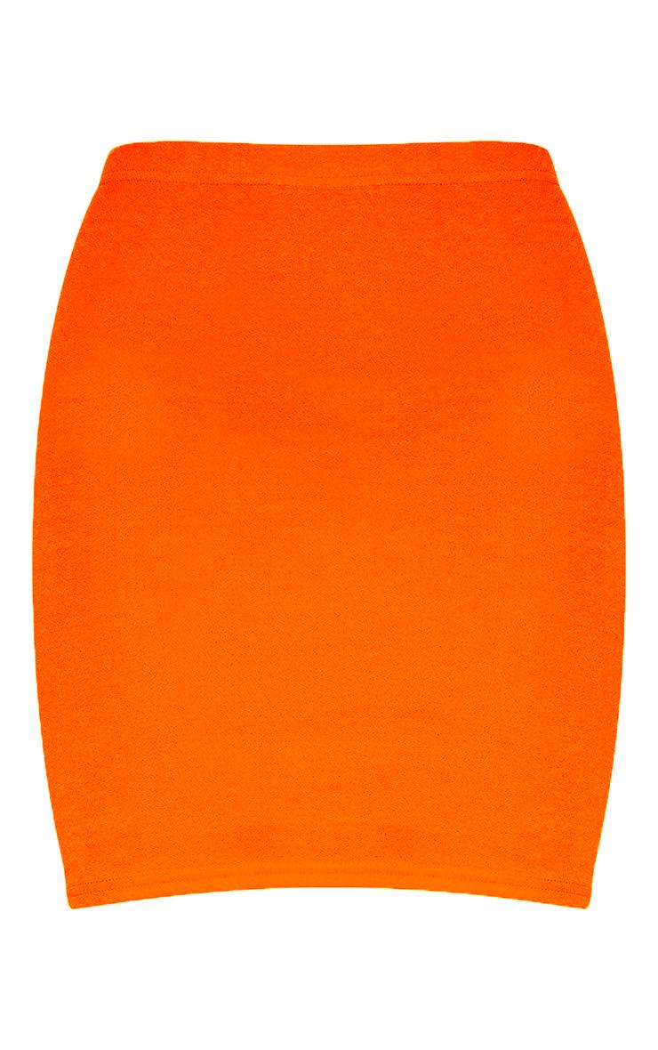 Neon Orange Mini Skirt 3