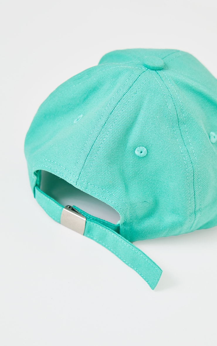 PRETTYLITTLETHING Sage Green Wave Baseball Cap 3