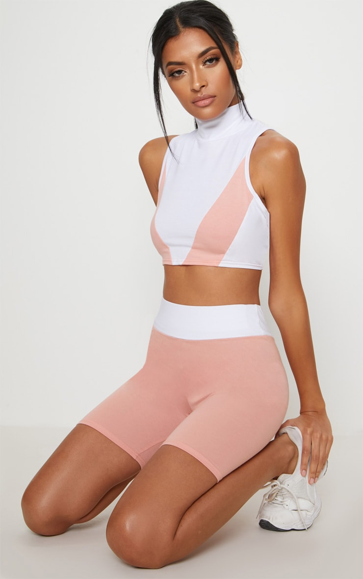 Pink Cotton Cycling Shorts 5