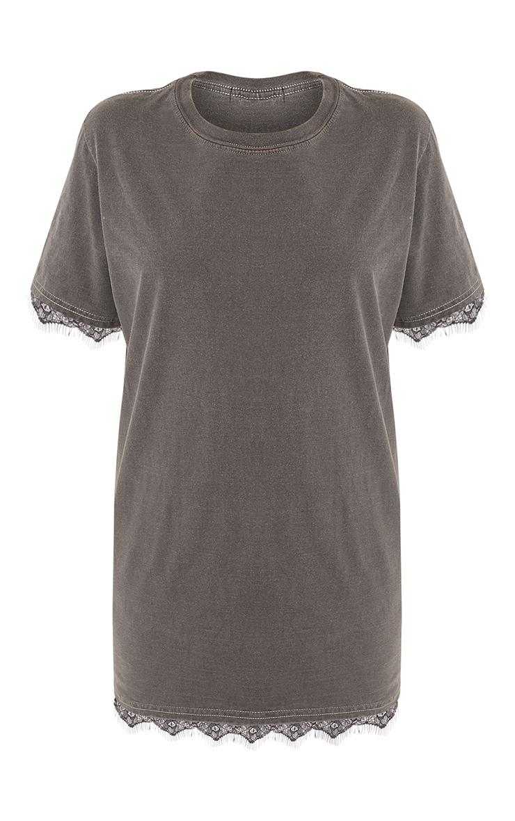 Corey Grey Laundered Lace Trim T Shirt 3