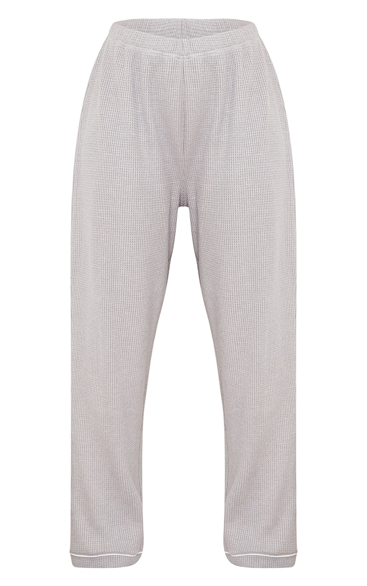 Grey Mix And Match Soft Waffle PJ Trousers 5
