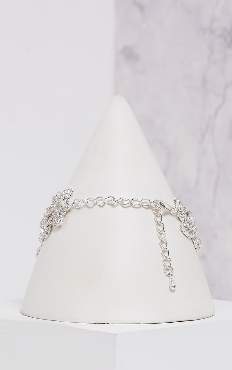 Jena Silver Diamante Choker 4